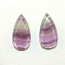 Fluorite Cabochons 21x11mm with 4mm dome set of 2 (12145)