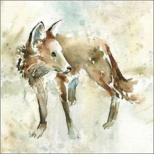 Carol Robinson : On Second Thought Toile sur cadre toile Loup aquarelle