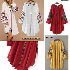 Vestito Copricostume Donna Caftano Ricamato Woman Cover up Kaftan Dress 110238