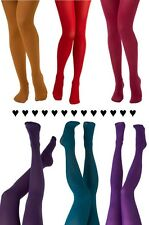 40 Denier, Women's LADIES Opaque Fashion TIGHTS in Various Colours One Size