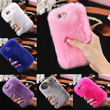 Luxury Warm Soft Fur Hair Back Case For Apple iPhone 4/4s