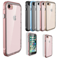 Hybrid Shockproof Clear Rubber TPU Bumper Case Cover For iPhone 7 6s 6