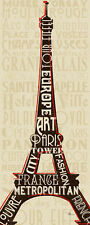 Pela Studio: Paris City Words I Keilrahmen-Bild Leinwand Städte Monumente