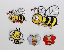 Bumble Honey Bee Iron / Sew On Embroidered Applique Motif