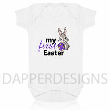 My First Easter Cute Bunny EASTER BUNNY Cute Baby Body Suit Vest EASTER BIB