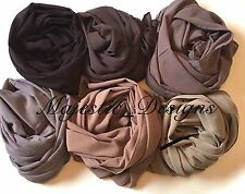 New Nude Plain Soft Chiffon Scarf Large Headscarf Womens ladies hijab Scarves