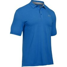 Under Armour Charged Cotton Scramble Mens T-shirt Polo Shirt - Blue Marker