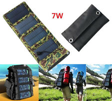 7W Portable Folding Solar Panel Power Battery Charger For iPhone Samsung Camping
