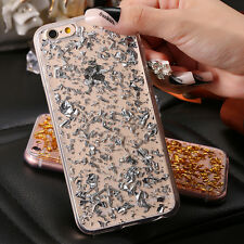 Fashion Luxury Gold Glitter Bling Soft TPU Clear Cover Case For iphone