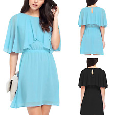 UK New Women's Ladies Loose Summer Evening Party Chiffon Cocktail Dress