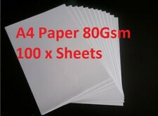 A4 Paper 100 x Sheets Quality White Printer Paper for Multi Purpose 80 Gsm