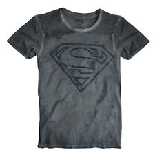 Mens Official Dark Grey Superman Top T shirt Tee size  S,M,L,XL,XXL