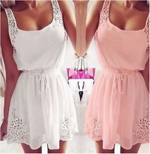 Women's Casual Sleeveless Swing Dress Cocktail Party Short Tunic Ladies Dresses