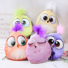 NEW CHILDRENS COIN PURSE BIRDS MAKE UP BAG PARTY GIFT ZIP FREE P&P