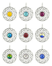 Sterling Silver Round Pendants made with 1122 Rivoli 12mm Swarovski® Crystals