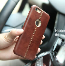 Luxury Ultra-thin Genuine Leather Back Case Cover For Apple iPhone 7 6