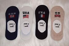 UK USA FRA CAN Flags Fashion Ladies Women Short Invisible Sping Summer Socks