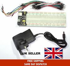 MB-102 Breadboard Kit (Power Supply, 830 point breadboard and jumpers) UK Seller