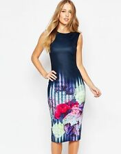 NEW Ted Baker Vespera Hydrangea Haze Midi Dress RRP £ 159 SZ  1,2