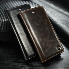 Luxury Leather Flip Cover Wallet Card Stand Magnetic Case For iPhone 7