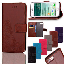 Clover Magnetic Card Wallet Flip Stand Leather Case Cover For iPhone 6