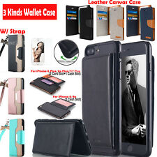Luxury Leather Wallet Card Holder Flip Stand Case Cover For iPhone 7/6
