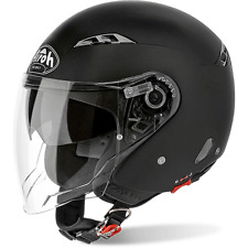 CASCO AIROH JET CITY ONE COLOR DOPPIA VISIERA BLACK MATT MOTORICAMBIPIEMME
