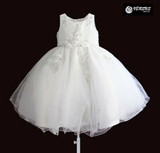 Vestito Bambina Abito Rose Principessa Cerimonia Girl Summer White Dress DGZF025