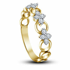 Riva Jewels 14k Gold Plated 925 Sterling Silver White CZ Beautiful Band Ring