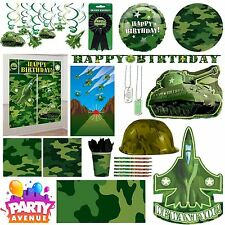 Army Camouflage Party Birthday Party Decorations Balloons Favours Tableware