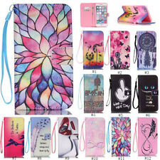 For iPhone Samsung Flip Stand PU Leather Card Wallet TPU Case Cover Pa