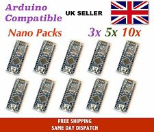 Arduino Nano v3 compatible - multi-pack, ATMEGA328, CH340 USB, UK Seller