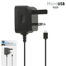 3 Pin 1000 mAh UK MicroUSB Mains Charger for BlackBerry 9300 Curve 3G