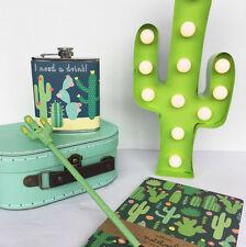 Sass & Belle Cactus Gifts Stationary and Home Deco (Flask,Stationary,Light)