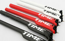 TIJA TIME CARBONO carbon SEATPOST 199gr RED-WHITE-BLACK MTB ROAD 25mm back
