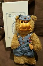 Signed Numbered LE Robert Raikes Buttons Wood Face Collectible Teddy Bear