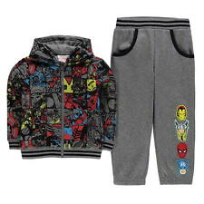 BOYS CHILDRENS 2 PIECE CHARACTER MARVEL AVENGERS HOODED HOODIE BOTTOMS