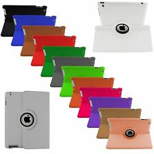 NUOVO 360° rotante PELLE SMART SUPPORTO CUSTODIA COVER per iPad Air, 4,3,2 &