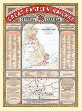 Jigsaw Puzzle Map of The Great Eastern Railway (100, 500 or 1000 Pieces)