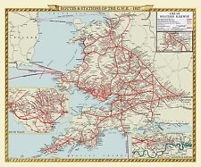 Jigsaw Puzzle Map of The Routes and Stations of the Great Western Railway 1927