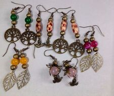 Handmade Earrings Ethnic Tribal Hippy Boho Ladies Dangle Earrings Gemstone