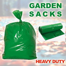 GREEN GARDEN WASTE REFUSE SACKS RUBBISH BIN BAGS LARGE HEAVY DUTY
