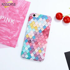 KISSCASE Fashion Colorful 3D Scales Phone Cases For iPhone 6 6S Plus 7 7 Plus