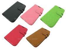 PU Leather Folio Wallet Pouch Case Magnetic Flip Cover for Samsung Galaxy S