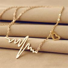 Fashion Popular Wave Heart Necklace Love Chain Sweater Jewelry Pendant Necklace