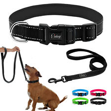 Reflective Pet Dog Collars and Padded Leads Leash Durable for Dogs Walking S M L