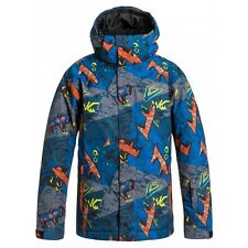 QUIKSILVER BOYS MISSION PRINTED 10K SNOW JACKET VARIOUS SIZES NEW