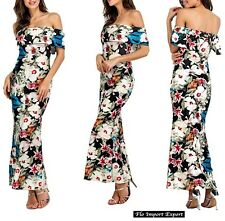 Vestito Lungo Donna Fantasia Floreale Woman Maxi Dress Floral Print 110266
