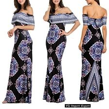 Vestito Lungo Donna Fantasia Geometrica Woman Maxi Dress Geometric Print 110268