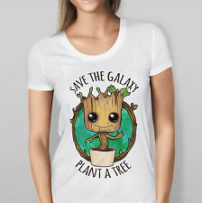 """Guardians Of The Galaxy  - """"Save The Galaxy Plant A Tree"""" - Baby Groot - T-Shirt"""